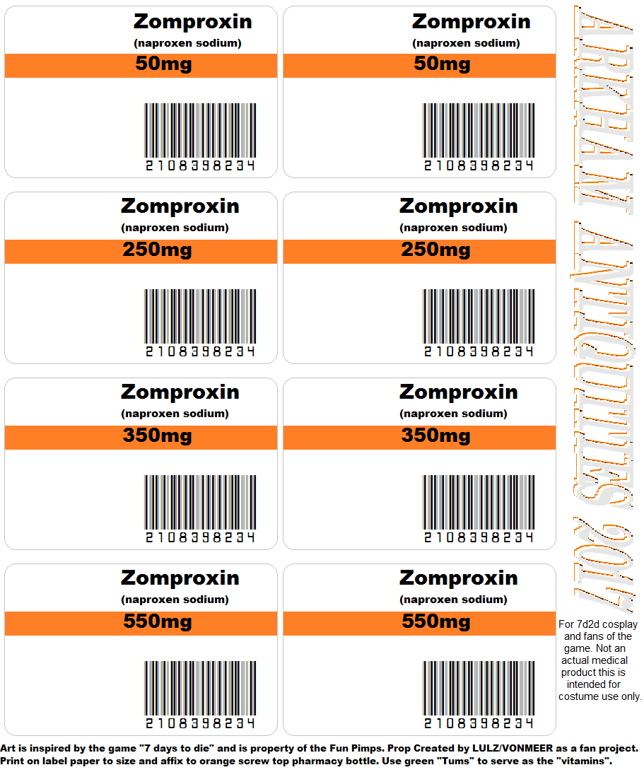 Zomproxin label